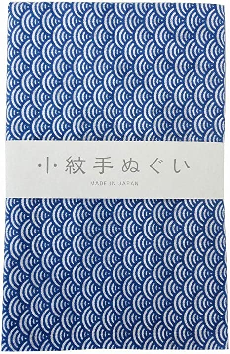 3-teilig Seigaiha, Kamon, Wagasa MIYAMOTO Komon Tenugui Handtuch-Set