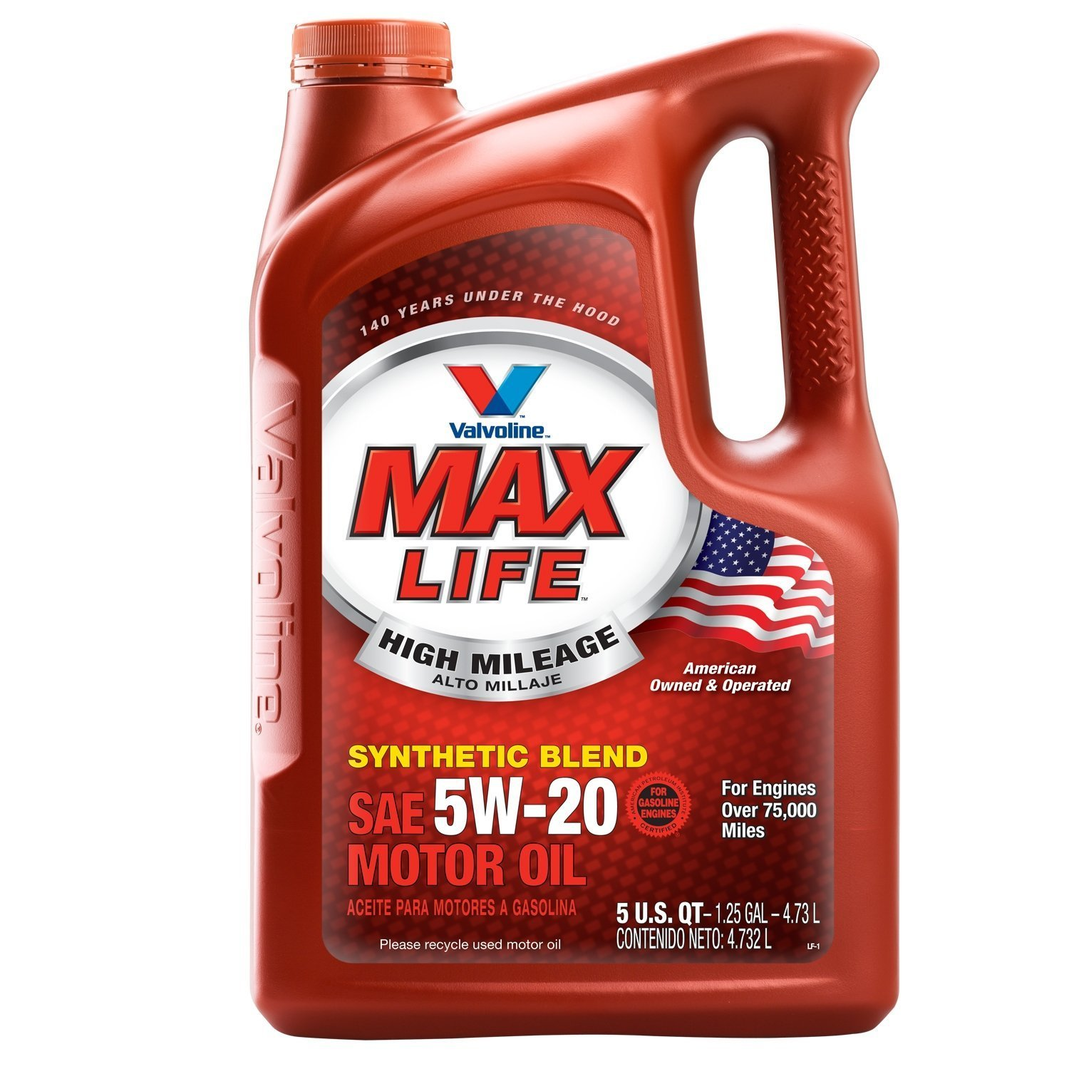 Valvoline High Mileage with MaxLife Technology 5W-20 Synthetic Blend Motor Oil - 5qt (782253) by Valvoline