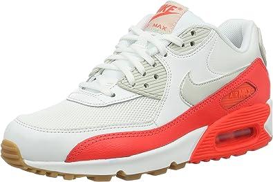 Nike Air Max 90 Essential, Baskets Basses Femme, Blanc