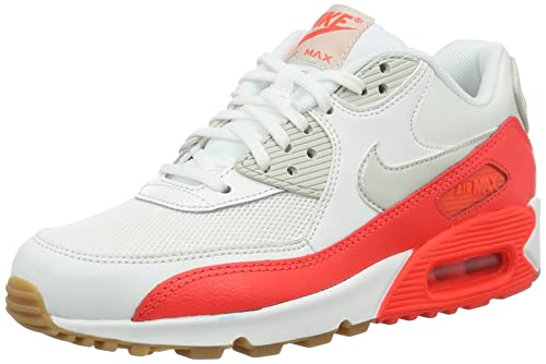 huge selection of 1a1e5 2b71a Nike Wmns Air Max 90 Essential, Women s Sneakers basses, White (Summit White