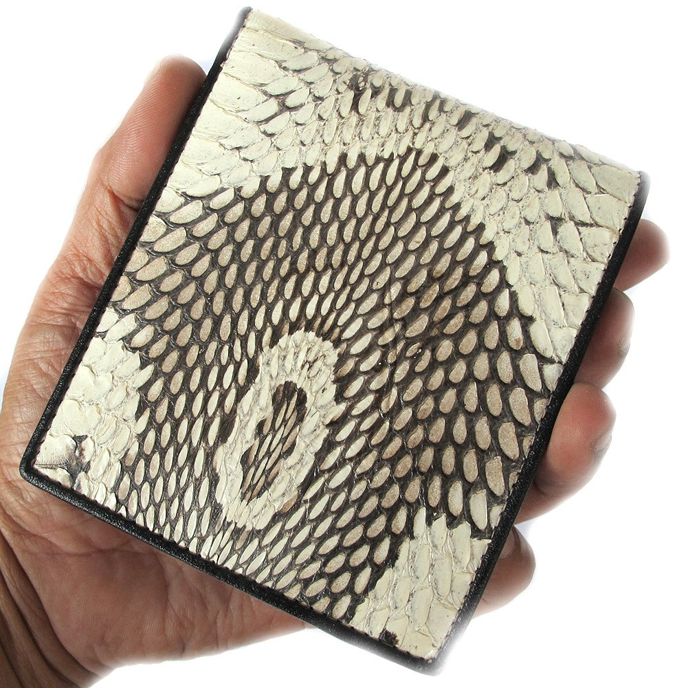 UNIQUE NATURAL PRINT GENUINE HEAD COBRA BI FOLD WALLET