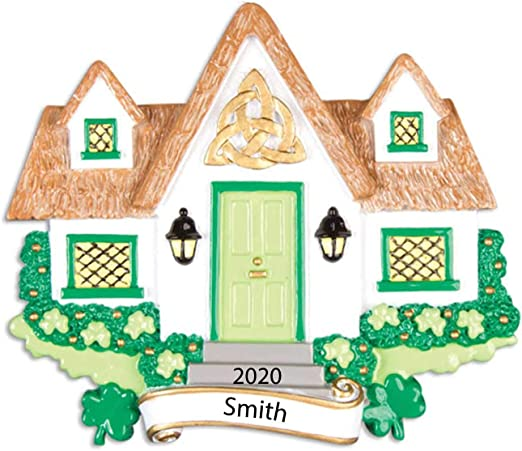Christmas Neighbor Gifts 2020 Amazon.com: Personalized New Irish House Christmas Tree Ornament