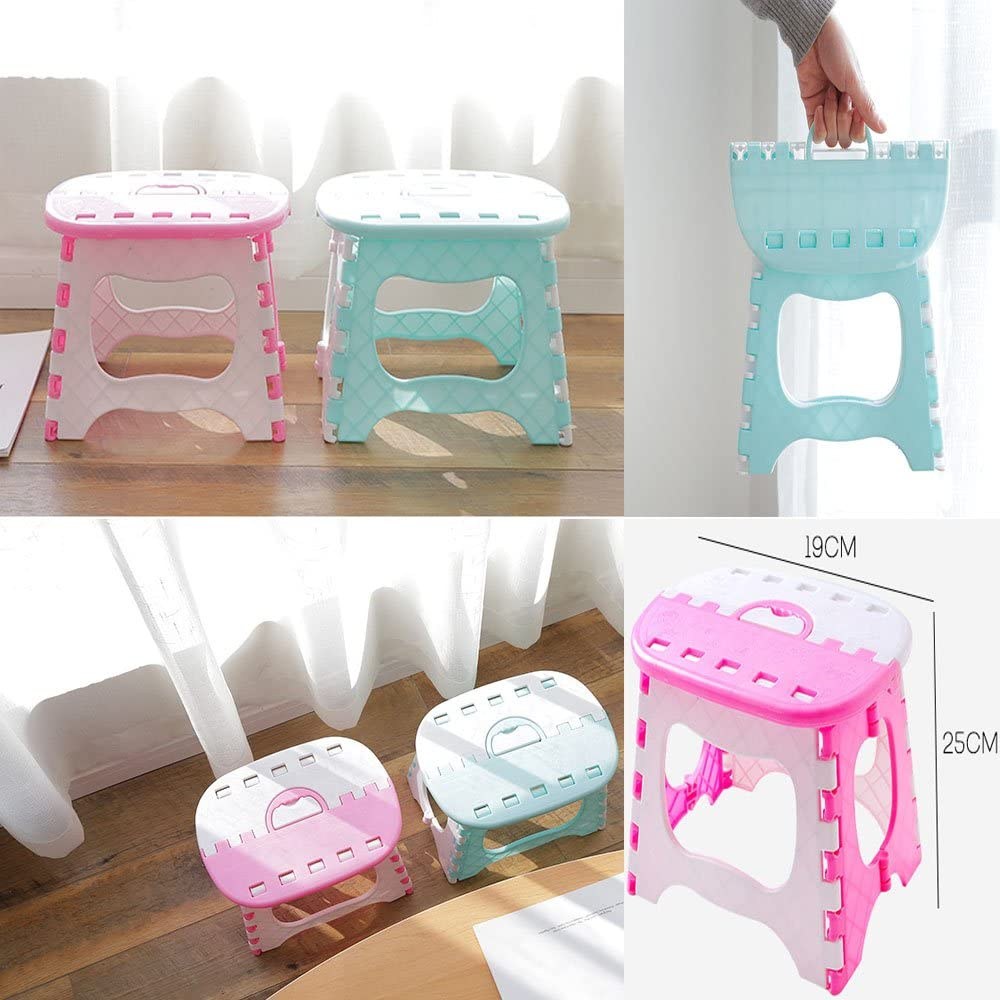 Foldable stool portable step stool Blue, S super load-bearing for adults and children
