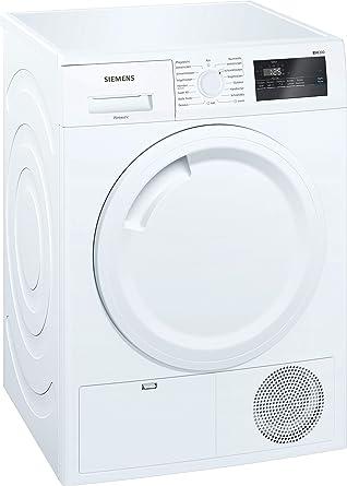 Siemens iQ300 WT43N201 - Secadora (Independiente, Carga frontal, Condensación, Blanco, Giratorio