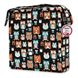 Zicac Owl Printed Dismountable Kids Baby Toddler Infant Harness Cushion Dining Chair On the Go Seat Highten Pad Travel Storage Chair (Black)