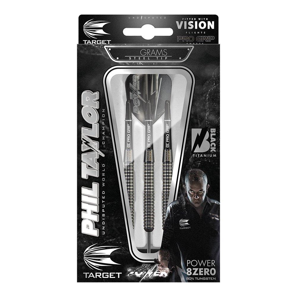 /Phil Taylor Power 8Zero Titan Stahl Tip Darts Target Darts Dartpfeile/