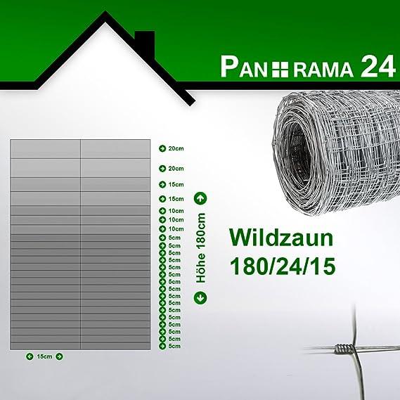 rg-vertrieb Wildzaun 50m Forstzaun Weidezaun Drahtzaun Knotengeflecht 180cm 3 Gr/ö/ßen 180//13//30
