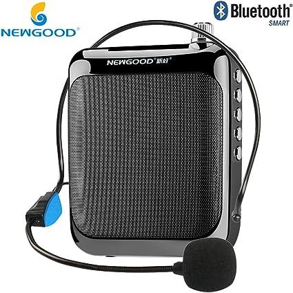 newgood 2,4 G inalámbrico amplificador de micrófono inalámbrico de altavoces amplificadores de voz con auriculares con cable: Amazon.es: Instrumentos musicales