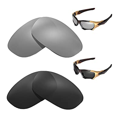 bc5321ca6f Image Unavailable. Image not available for. Colour  Walleva Polarized  Titanium + Black Replacement Lenses Oakley PIT BOSS II Sunglasses