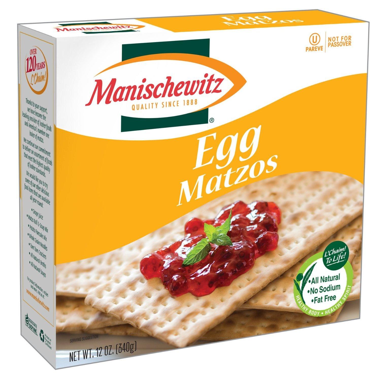 Manischewitz Egg Matzo, 12 OZ (Pack of 5)