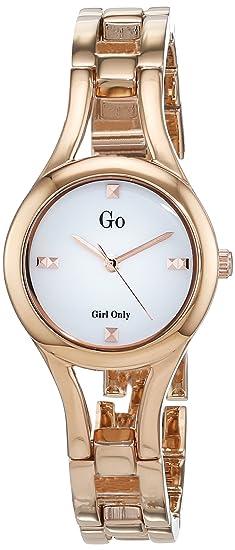 Go 695042 - Reloj de Pulsera Mujer, Metal, Color Dorado