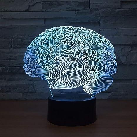 XYD Ilusión 3D Luces nocturnas, Modelado Cerebral Lámparas ...