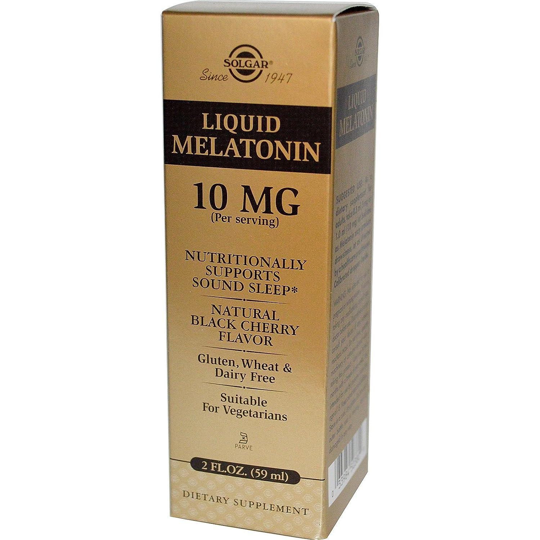 Amazon.com: SOLGAR Liquid Melatonin 10 Mg Natural Black Cherry Flavor, 2 FZ: Health & Personal Care