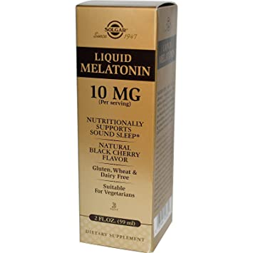 Image Unavailable. Image not available for. Color: SOLGAR Liquid Melatonin 10 Mg ...