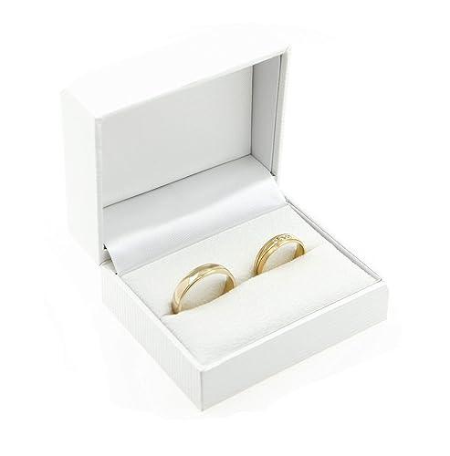 Estuche con 2 anillos de boda de alta calidad; para el ...