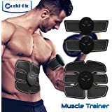 WORLD-BIO ABS Stimulator Abdominal Muscle Toning AB Belt, Slimming Trainer Sculptor Toner, Arm Leg Waist Fitness Training Gear, Portable Wireless Body Exercise Workout for Men Women Home Gym Office
