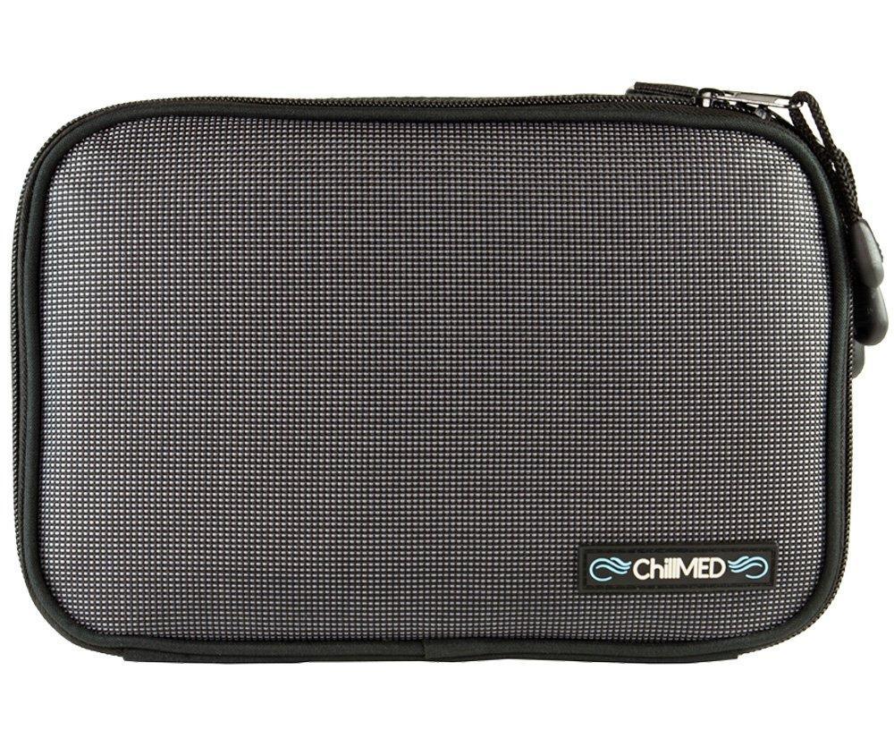 ChillMED Elite Diabetic Insulin Cooler Bag Travel Case with Cold Packs (Slate Grey)