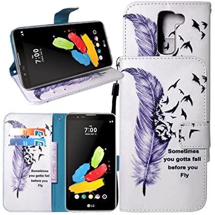 Cell Phones & Accessories For Lg Stylus 2 K520 New Leather Flip Book Wallet Phone Case Tempered Glass