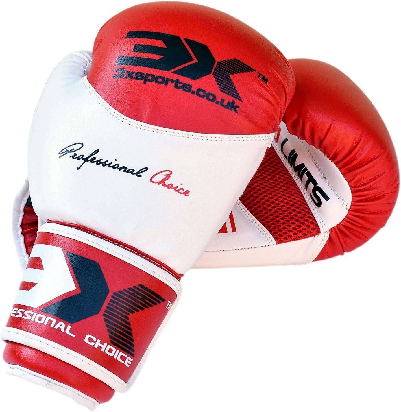 3X Professional Choice Gants de Boxe Kickboxing Muay Thai Gant Sac Frappe Sparring Entrainement Maya Hide Cuir Mitaines Competition Multi Couleur//Tailles