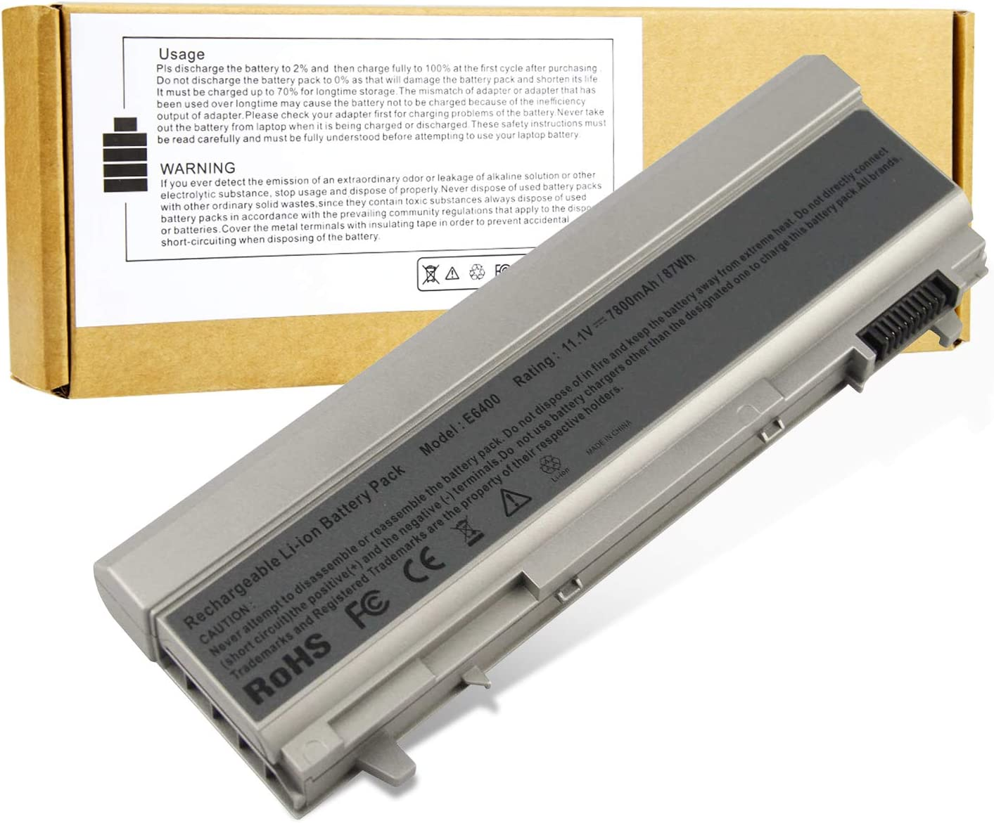 9 Cell Laptop Battery Replace for Dell Latitude E6400 E6410 E6500 E6510 MP490 4m529 pt434 ky265 312-0749 4N369 MP303 – High Performance