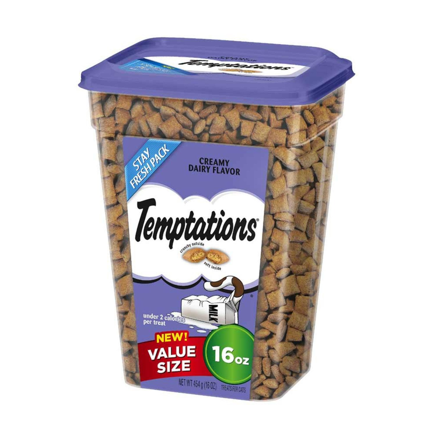 TEMPTATIONS Classic Treats for Cats 16 oz Tubs Dairy