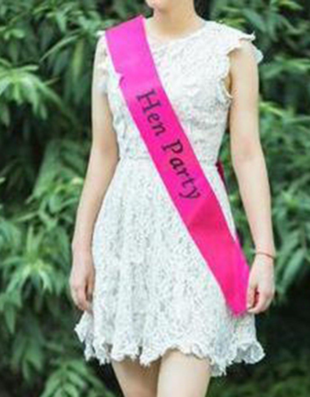 Lumanuby Écharpe personnalisable pour enterrement de vie de jeune fille et fête  Rose, Tissu, pink 2, 156   9.5CM  Amazon.fr  Cuisine   Maison f625c79c753