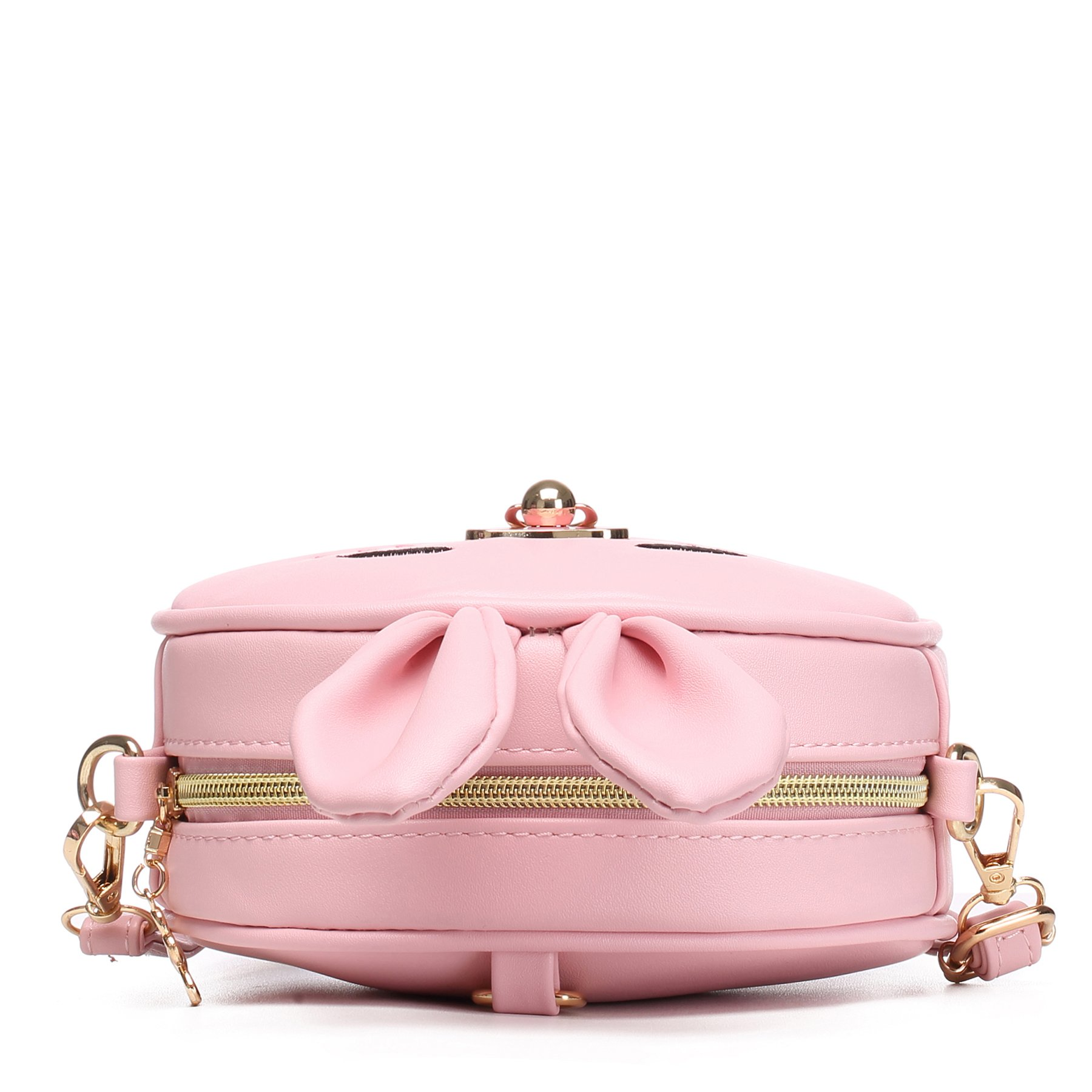 CMK Trendy Kids My First Purse for Toddler Kids Girls Cute Shoulder Bag Messenger Bags with Bunny Ear and Double Slide Zipper Novelty Birthday Gift (82011_Pink) by CMK Trendy Kids (Image #7)