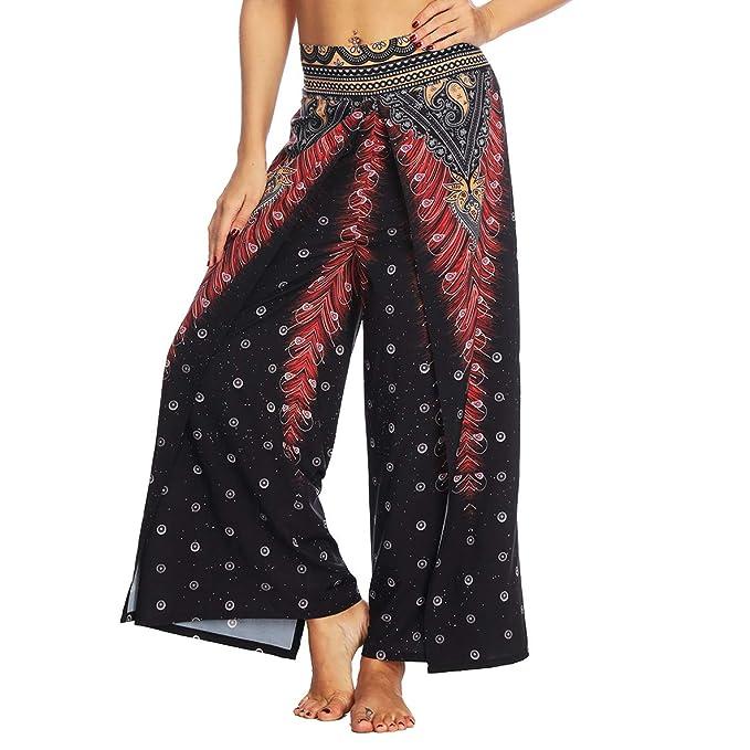 Amazon.com: Bravave Palazzo - Pantalones de yoga para mujer ...