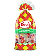 Kerr's Fruit Drops with 7 Different Flavors of Blue Raspberry, Orange, Lemon, Lime, Cherry, Grape, and Licorice {Proudly Made in Canada} (1 - Bag)