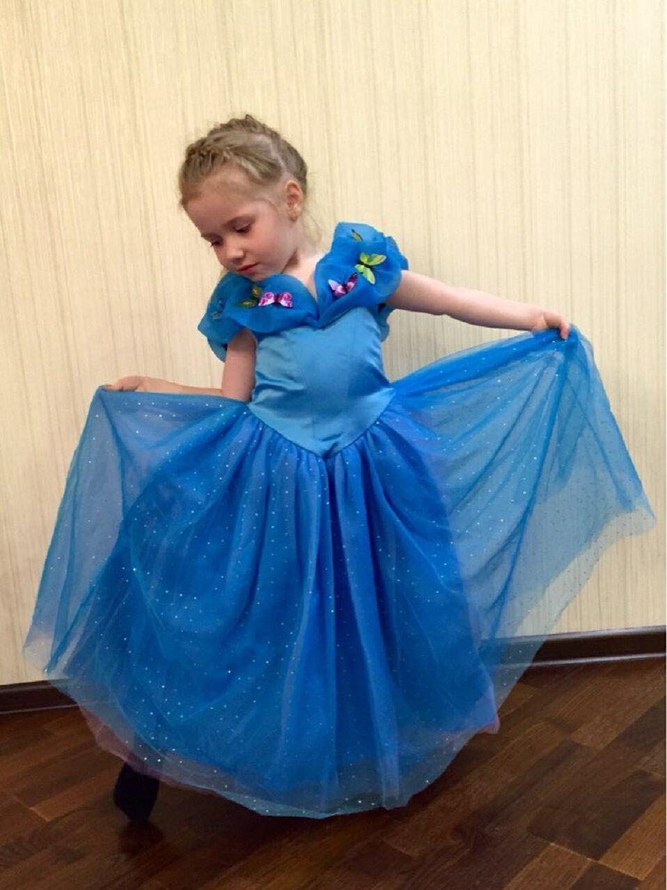 f0c84082089fc Tacobear Costume da ragazza della principessa di Cenerentola delle ragazze Vestito  da ragazza della farfalla del vestito operato dal partito di Halloween ...