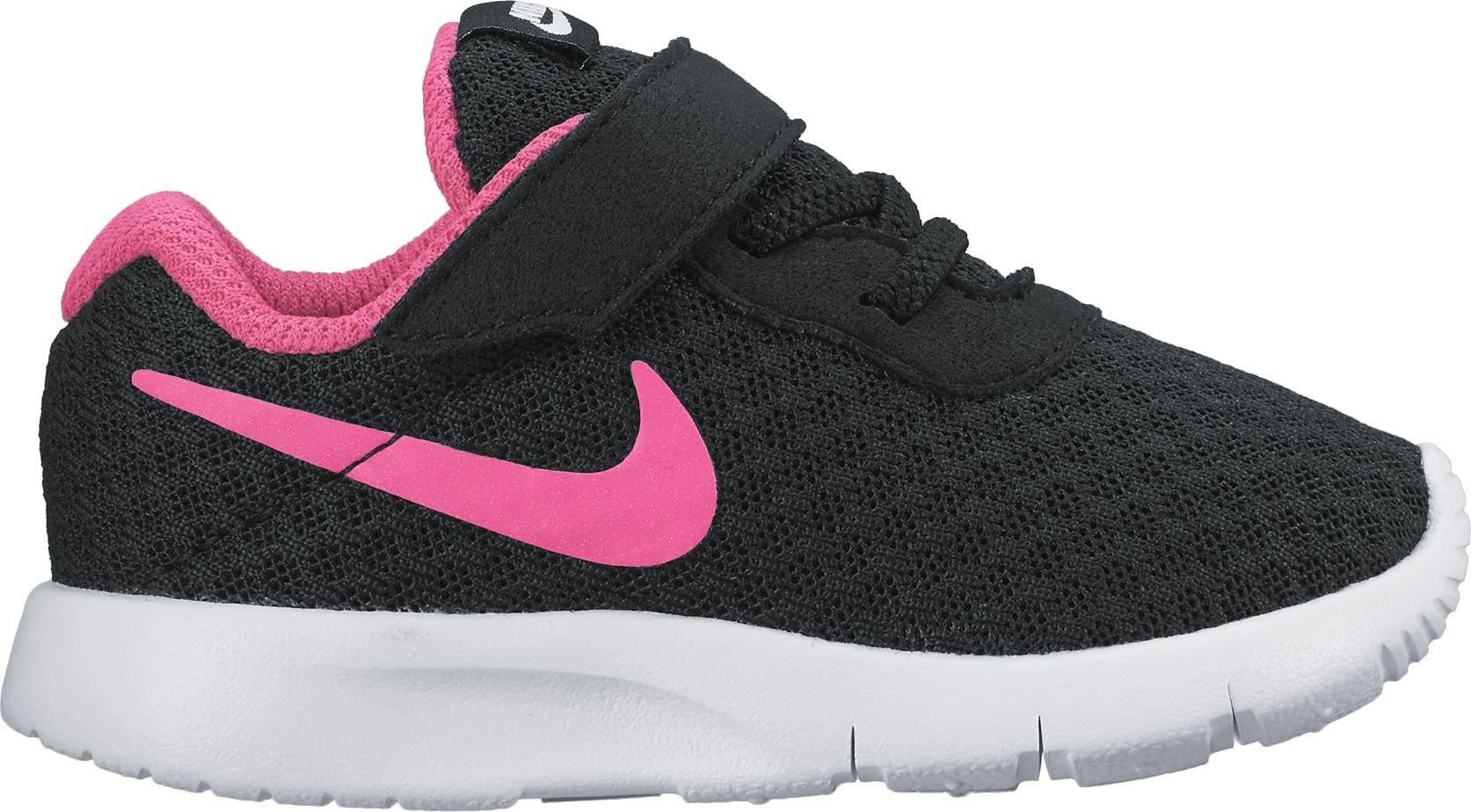 Nike 818386-061: Girl's Tanjun Black/Hyper Pink/White Sneaker (4 M US Toddler)