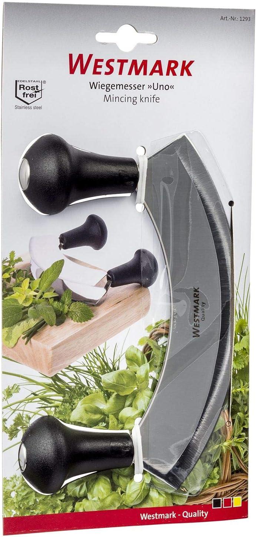Westmark Mincing Uno 1 Knife Stainless Steel 17 x 12.6 x 3.8 cm Black//Silver