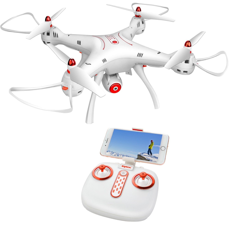 Dodoeleph Syma X8sw Wifi Fpv Quadcopter Drone 720p Hd X8 Pro Drore Gps Auto Return Camera Rc 24g 4ch 6 Axis Altitude Hold Toys Games