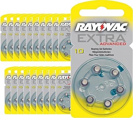 120 X Rayovac Extra Advanced Typ 10 Hörgerätebatterien Elektronik