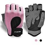 KANSOON Essential Breathable WorkoutGloves, WeightLiftingFingerless GymExercise GloveswithCurvedOpenBack,forPowerli