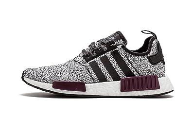 new style 9ff2d 2ba94 adidas Mens Originals NMD R1 BlackBlackPurple Mesh Running Shoes 8 ...