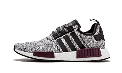 on sale 72c40 f5733 adidas Men s Originals NMD R1 Black Black Purple Mesh Running Shoes 8 ...