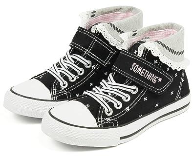 005ba93164dbe (サムシング エドウィン) SOMETHING EDWIN 子供靴 ハイカットスニーカー キッズ 女の子 ジュニア SOM-3026