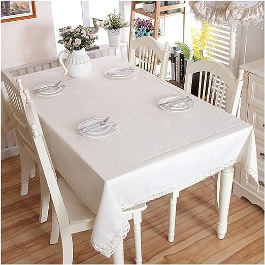 Cheryl Norri Banquete de Bodas Tabla de Cena Moderna de Lino de algodón Espesar Mantel Blanco del cordón de Tela Lavable café manteles, Negro Rayado, 140 cm x 160 cm: Amazon.es: Hogar