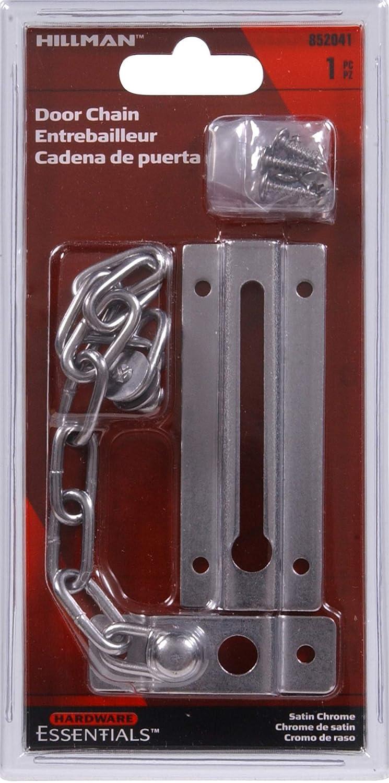 Hillman Hardware Essentials 852041 Door Chains Satin Chrome The Hillman Group