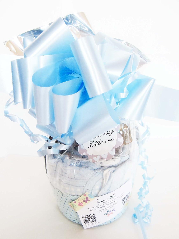 Maxi-Magdalena de Pañales + Chupete SUAVINEX | Baby Shower Gift Idea | Color Azúl, Para Niños: Amazon.es: Bebé