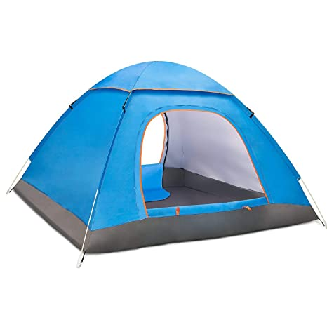 cac66942901 BATTOP 3-4 Person Water Resistant Camping Tent with Carry Bag for  Backpacking
