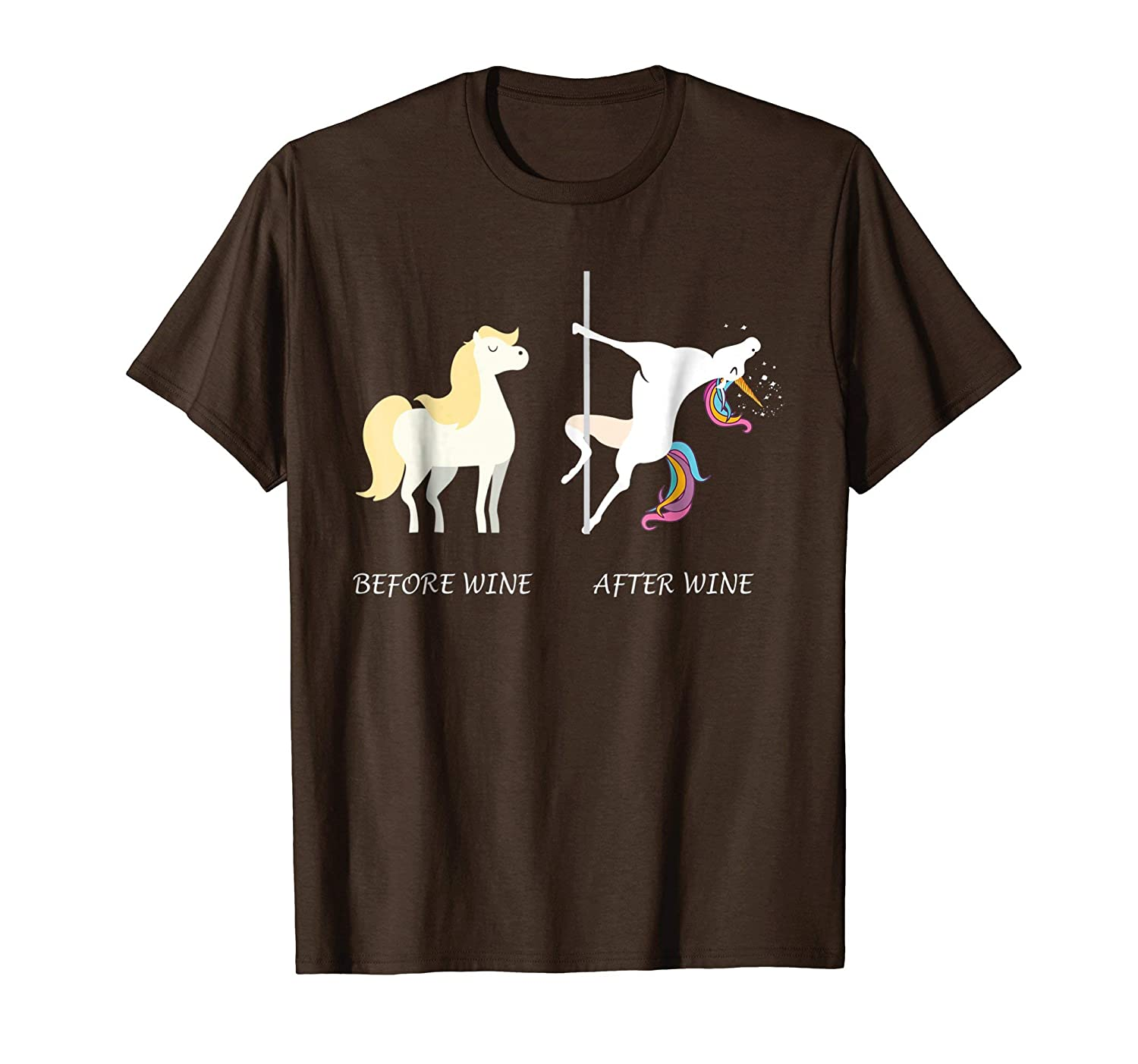 Funny Unicorn Before Wine After Wine T shirts Gift 2018-Bawle