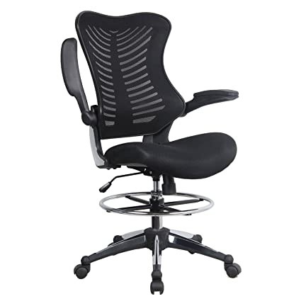 amazon com modrine ergonomic swivel drafting chair height