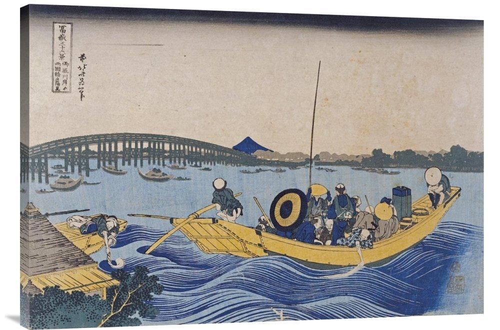 Global Global Global Galerie Budget gcs-265016–91,4–360,7 cm Hokusai View of the Evening Glow At Ryogoku Bridge Gallery Wrap Giclée-Kunstdruck auf Leinwand Art Wand B01K1P7D9O | Niedriger Preis  058c32