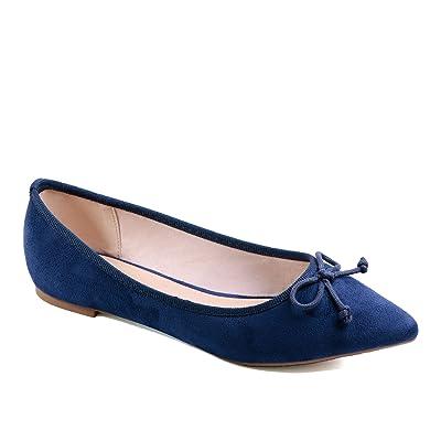 Greatonu Womens Ballet Flats Slip on Pointed Toe Comfortable Walking Shoes | Flats
