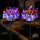 BlueTEK Butterfly Solar Light, Outdoor Solar Garden Lights, for Walkway Pathway Backyard Landscape Decoration (Multi…