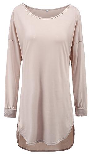 U-shot–Camisa de cuello redondo Irregular Tops Casual Business de cóctel vestido de Swing