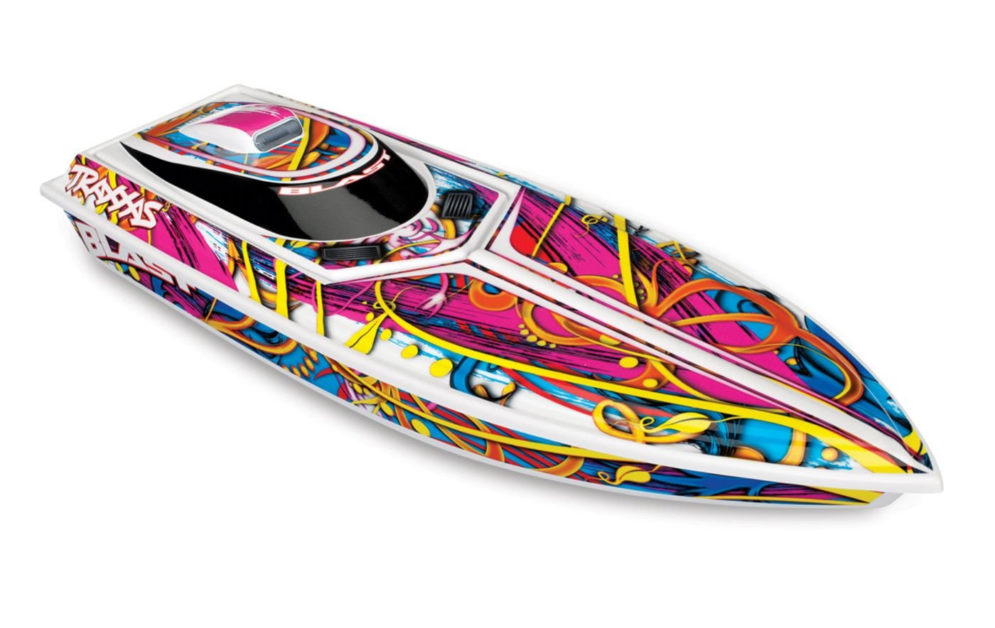 Traxxas 1//10 Scale Blast Boat Remote Control Boat 1//10 38104-1 SWRL Multi-Color
