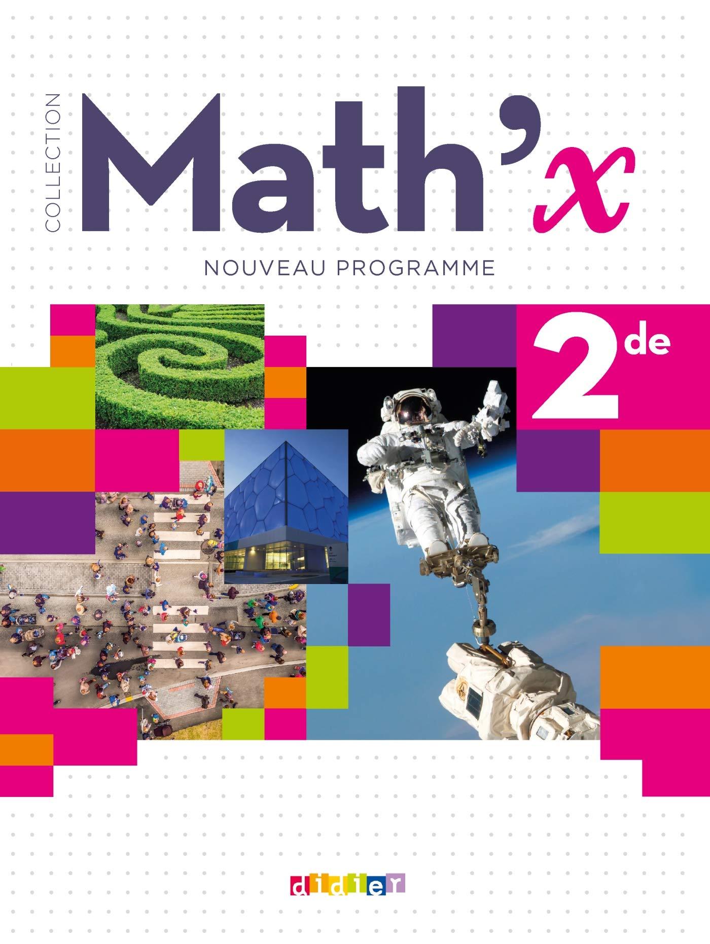 Math X 2de Ed 2019 Livre Amazon Fr Joel Berhouet